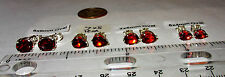RICH RED GARNET 100% NATURAL TOP QUALITY STUD EARRINGS STERLING SILVER