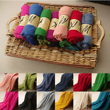 Lady Women long candy Colors Soft cotton Scarf Wrap Shawl Scarves Fashion Stole2