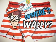 Boys official Where's Wally boxer pants shorts age 7-8, 9-10, 11-12 and 13 BNWT
