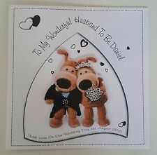 Large Personalised On Our Wedding Day Card Husband Wife To be Boofle Design