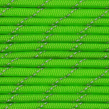 Reflective Neon Green 550 Paracord Type III Nylon Parachute Cord 550 Cord