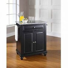Crosley Furniture Cambridge Solid Granite Top Portable Kitchen Island. Shipping