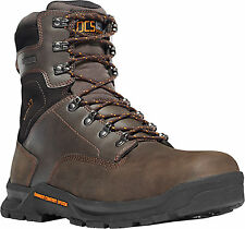 Danner Crafter 8in NMT Mens Brown Leather Safety Toe Work Boots 12439