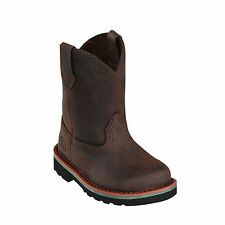 John Deere Children Boys Gaucho Leather Unlined Pull-On Cowboy Boots
