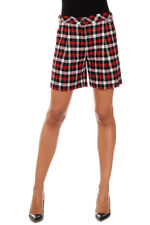 WOOLRICH New woman Red Checked Wool Bermuda Shorts Pants Made in Italy