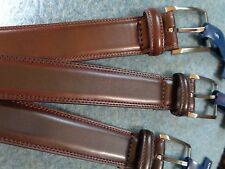 MEN'S CROFT&BARROW BONDED LEATHER BELTS W/STITCHING