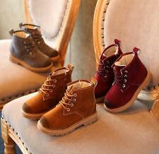 New Baby Girls Boys Winter Snow boots Teens Toddler winter leather Lace shoes