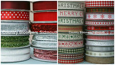 Gisela Graham ~ Christmas Ribbons 2016 Selection ~ Assorted Designs ~