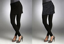Memoi Fashion Woman's Leopard & Black Skeggings Skirt & Legging Combination New