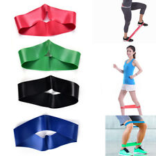 Resistance Band Loop Yoga Pilates Home GYM Fitness Exercise Training Workout