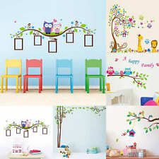 Jungle Animals Tree Bird Owl Removable Wall Decal Stickers Nursery Room Decor