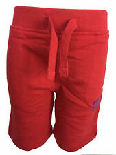 New Ex Firetrap Red Boys Sweat Shorts & Shirts Top Bottom sets Ages 2-13 yrs