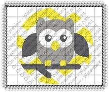 Baby Owl Baby Shower Birthday ~ Frosting Cake Topper ~ Edible Image ~ D19161