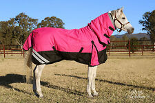 LOVE MY HORSE 5'3 - 6'9 1200D 300g Winter Waterproof Combo Rug Pink /Black