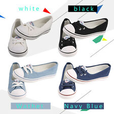 Hot Women Casual Canvas Work Flats Loafers Slip On Soft Fashion Boat Shoes P5