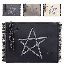 Ladies Faux Leather Star Clutch Bag Fringe Evening Bag Party Handbag Purse KT605