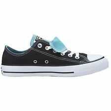 Converse Chuck Taylor Double Tongue Black White Womens Trainers