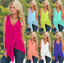 Summer Sexy Women Chiffon Vest Sleeveless Blouses Casual Tank Tops T-Shirts gr