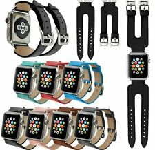 2016 NEW Genuine Leather Watch Band Cuff  Double Buckle For Apple Watch Series 2