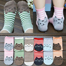 Womens Fashion Sports Casual Cute Cat Striped Ankle High Cotton Socks 1 Pair