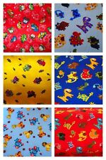 Childrens Polycotton Fabric 44ins wide Craft/Boys Animals, Cars Dinosaurs Planes