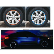 Cool 16 Strips Wheel Sticker Reflective Rim Stripe Tape Bike Motorcycle Car Tape