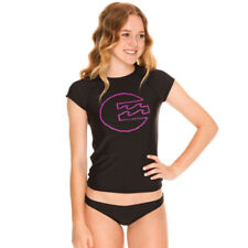 Billabong Girls Surfs Up Rash Vest  in Black