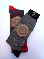 NEW LADIES/MENS 2 X PAIRS COTTON MIX SOCKS SIZE LARGE UK8 - 12.RRP £7.50 A PAIR.