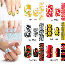 Nail Art Stickers Water Decals Nail Transfers Wraps Flowers Floral Beautiful