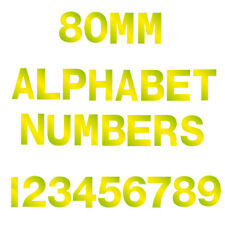 "3"" Vinyl HiVis Numbers Letters Custom Self Adhesive Lettering Stickers Shop Sign"