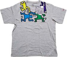 Keith Haring Uniqlo MoMA SPRZ NY Dancing Men w/Logo Embroidered T-Shirt Top-L