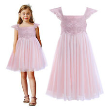 Flower Girl Embroidered Party Dress Wedding Formal Princess Pageant Graduation