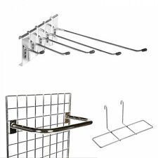 Gridwall Mesh Chrome Hooks, Arms & Accessories for Gridwall Mesh Retail Display