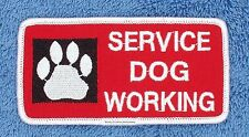 SERVICE DOG WORKING PAW PATCH 2X4 INCH Danny & LuAnns Embroidery assistance
