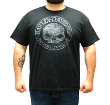 Harley-Davidson Mens Rustic Grey Willie G Skull Black Short Sleeve Biker T-Shirt