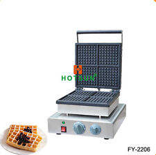 Commercial Nonstick 110V 220V Electric Belgian Brussels Liege Maker Iron Machine
