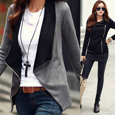 Womens Cotton Slim Fit Casual Jackets Korean Style Outerwear Overcoat Coat Tops