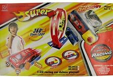Deluxe Super Kids Shooter Race Car Play Set Stunt Loop Track Racing. Free Shippi