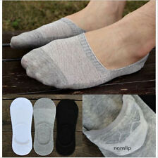 Men Loafer Boat Invisible No Show Nonslip Liner Low Cut Ankle Cotton Socks
