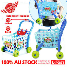 Xmas gift Sensor soundlight Shopping Trolley car Kids Children Pretend Play toy