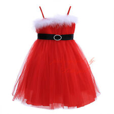 Girls Tulle Tutu Party Dress Christmas Kids Princess Formal Pageant Dresses
