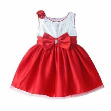 Baby Toddler Girls Sequinned Party Dress Wedding Bridesmaid Princess Pageant