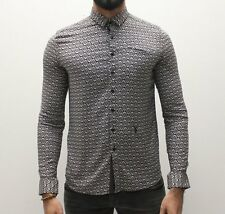 BNWT Mens Pearly King Primitive Shirt - Charcoal - NOW ONLY £59.99 - Free P+P