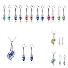 1 Set Necklace HOT Austrian NEW Fashion 2016 Combination Earrings Hot Crystal