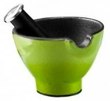Le Cuistot Mortar and Pestle - Cast Iron - 10.2cm - Green. Free Shipping