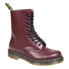 Cherry Red Dr Martens DM 1490 Smooth Leather Alternative Boots Footwear Shoes