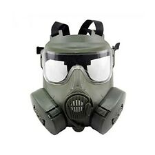 RJXuan M50 Airsoft Paintball Mask Full Face Skull CS Mask Wargame With Fan OD Gr
