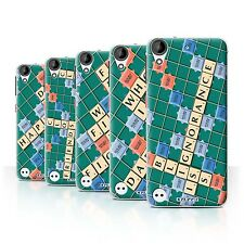 STUFF4 Back Case/Cover/Skin for HTC Desire 530/Scrabble Words
