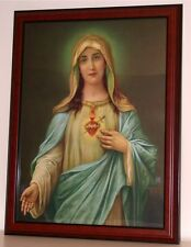 Sacred Heart of Mother of Jesus, Mary Print new Unframed