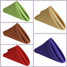 """5 pcs 17"""" Polyester Napkins Affordable Wedding Table Top Supply Decorations SALE"""